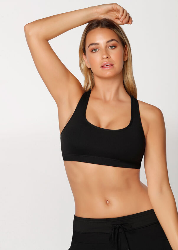 Comfort Sports Bra, Black, hi-res