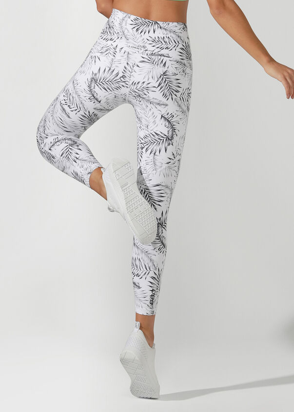 High Rise Booty Core Ankle Biter Tight, Mono Jungle Print, hi-res