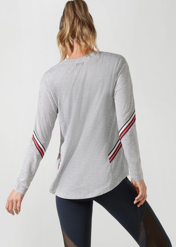 Athleisure Long Sleeve Top, Grey Marl, hi-res