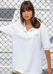 Match Point Oversized Polo, White, hi-res