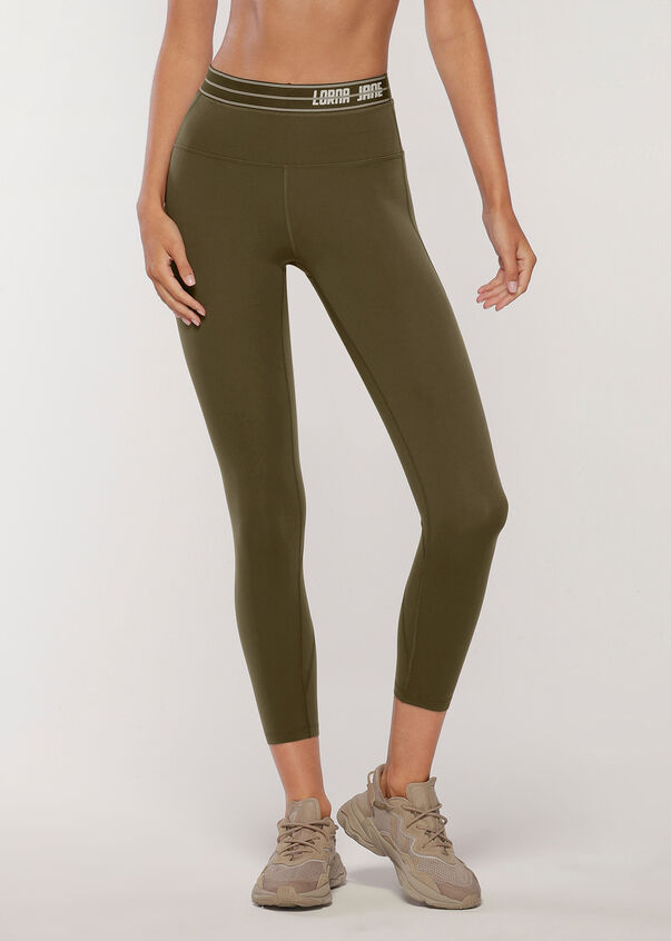 Faster Ankle Biter Leggings, Dark Khaki, hi-res