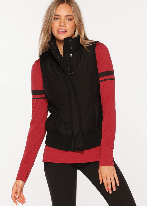 Ultimate S/Less Puffer Vest, Black, hi-res