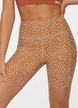 Leopard Scrunch Back Bike Short, Micro Leopard Print, hi-res