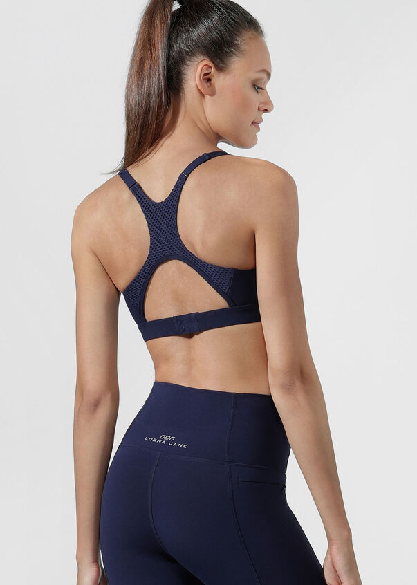 Endurance Sports Bra, French Navy, hi-res