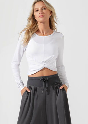 Flawless Cropped L/Slv Top