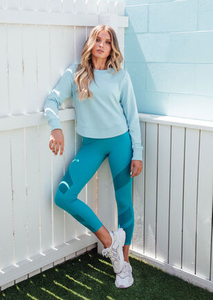 Throw Over Active Long Sleeve Top