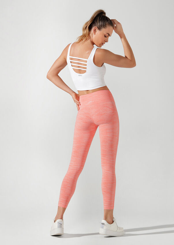 Britney Cropped Active Tank, White, hi-res