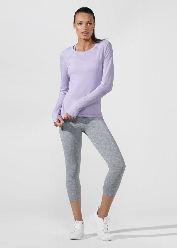 Comfort Seamless Long Sleeve Top, Pale Violet, hi-res