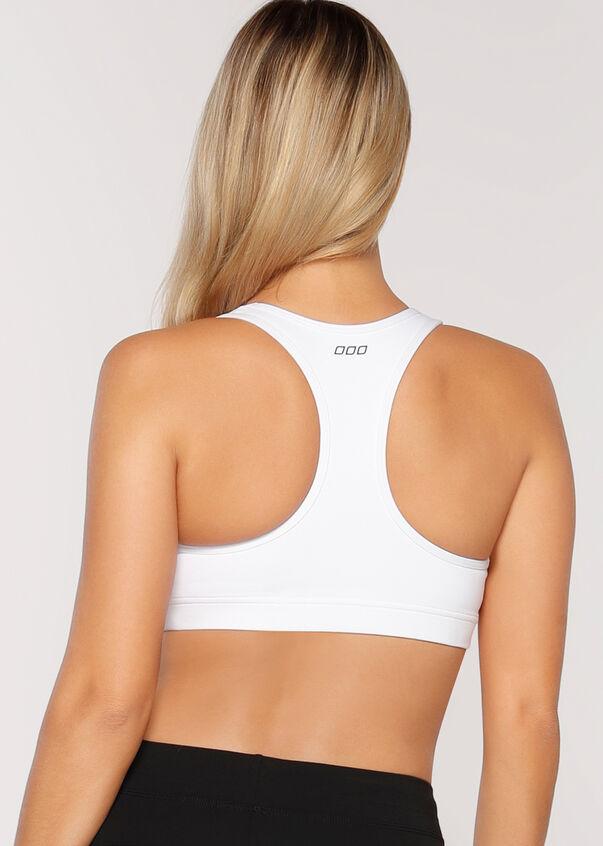 Comfort Sports Bra, White, hi-res