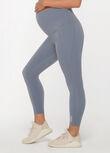 LJ Maternity Phone Pocket Ankle Biter Leggings, Powder Grey, hi-res