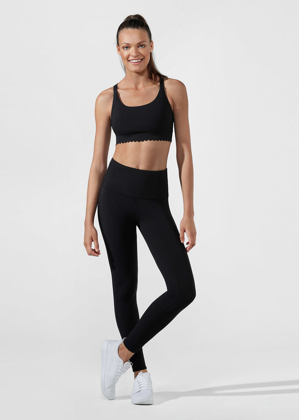 Oh La La Sports Bra, Black, hi-res