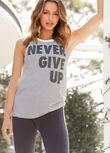 Never Give Up Tank, Black/White, hi-res