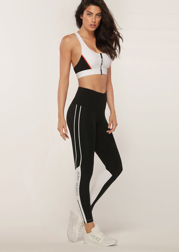Moto Cross Sports Bra, White, hi-res
