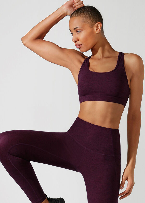 Bounce Reduction Sports Bra, Pinot Marl, hi-res