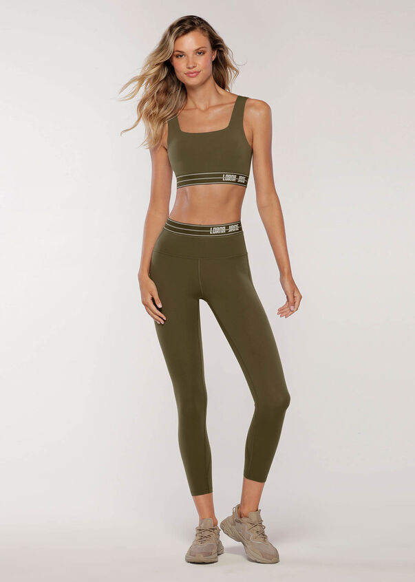 Faster Sports Bra, Dark Khaki, hi-res