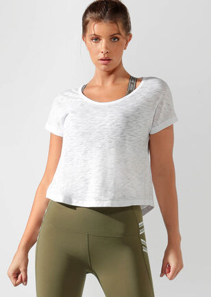 Mist Cropped Short Sleeve Top
