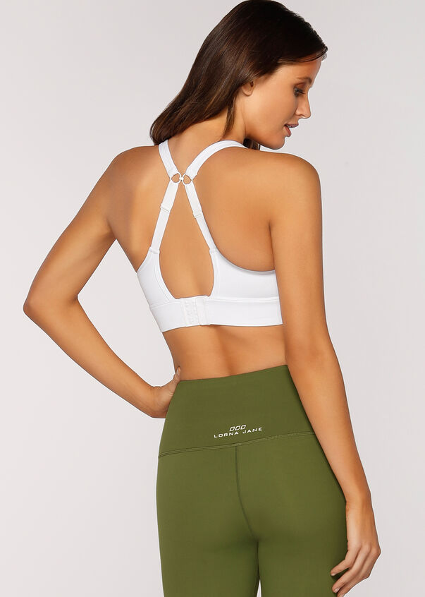 Compress & Compact Sports Bra, White, hi-res