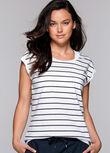 Stripe Sensation T-Shirt, White/Ink Stripe, hi-res