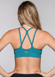Warrior Sports Bra, Luxe Teal, hi-res