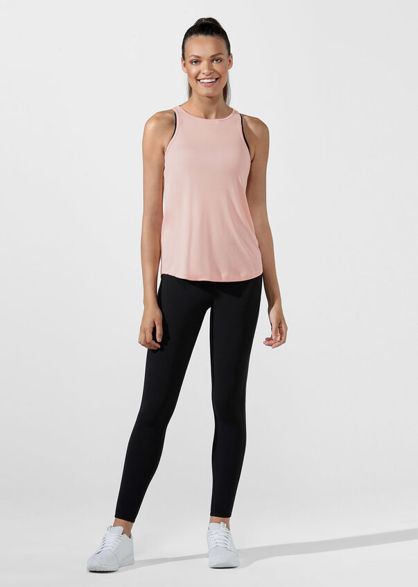 Luxe Giselle Tank, Dusty Peach, hi-res