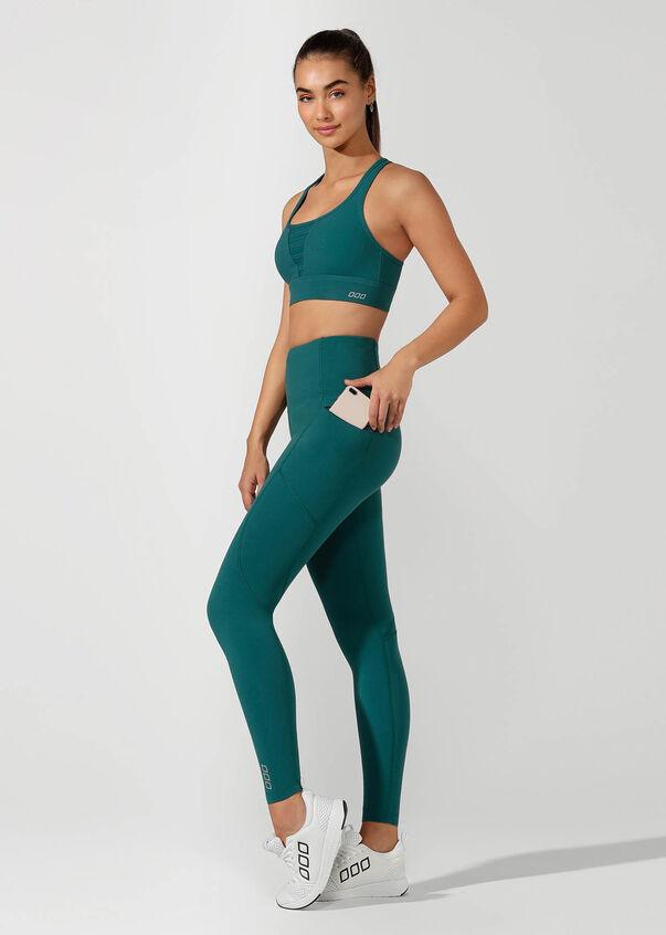 Active Days Zip Core Full Length Tight, Amazon Green, hi-res