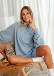 Power To You Funnel Zip Sweat, Pale Voyage Blue, hi-res