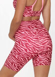LJ Full Coverage Maternity Bike Shorts, Bright Zebra Print, hi-res