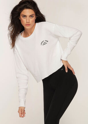 Down Time Long Sleeve Cropped Sweat